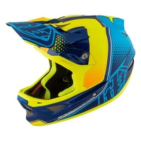 TLD 2017 D3 Composite Starburst Yellow Helmet