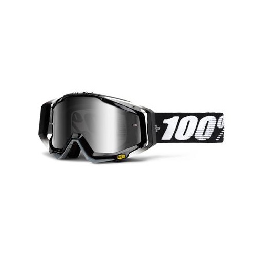 100% Racecraft Abyss Black Silver Mirror Goggle