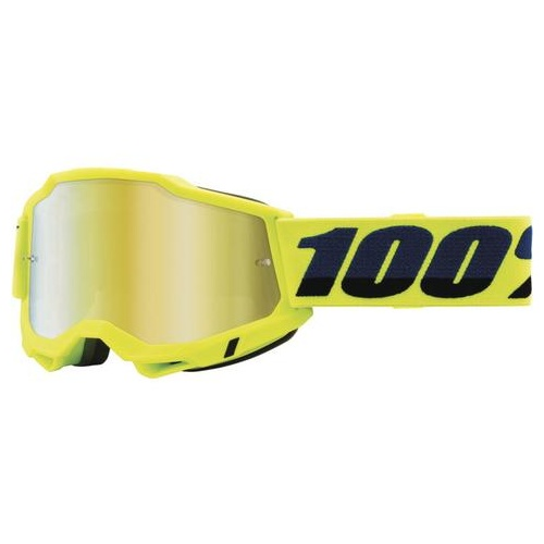 100% Accuri 2 Junior Yellow Goggle - Gold Mirror Lens (Youth)