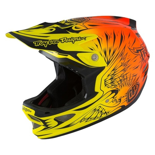TLD 2016 D3 Composite MIPS Ravage Orange Helmet